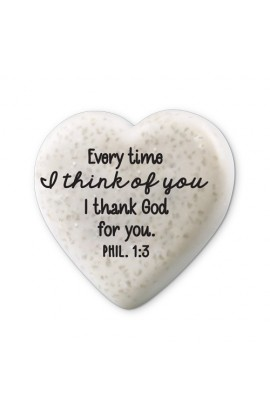 Plaque Cast Stone Scripture Stone Hearts of Hope Thankful