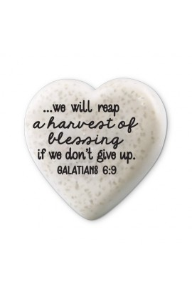 Plaque Cast Stone Scripture Stone Hearts of Hope Blessing