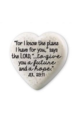 Plaque Cast Stone Scripture Stone Hearts of Hope Journey
