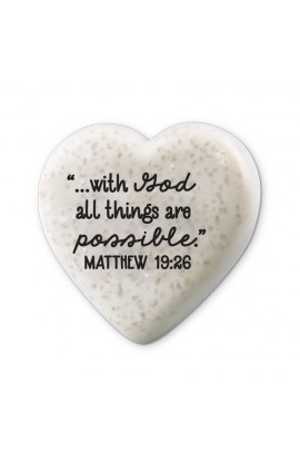 Plaque Cast Stone Scripture Stone Hearts of Hope With God