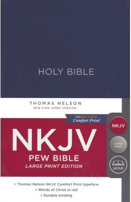 NKJV Large Print Pew Bible Blue Hardcover