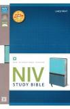 NIV Study Bible Turquoise Caribbean Blue Italian Duo Tone NIV Study