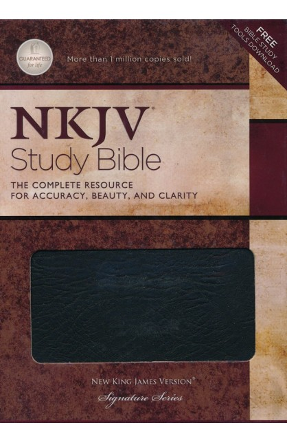 NKJV Study Bible NKJV 2885TI Thumb Indexed Black Bonded Leather Gilded Gold Page Edges