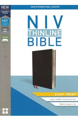 NIV Giant Print Thinline Bible Black Bonded Leather