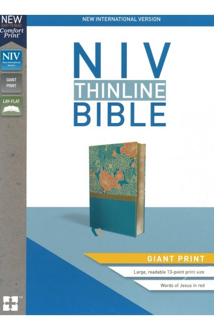 NIV Giant Print Thinline Bible Turquoise Leathersoft