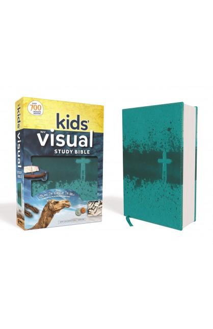 NIV Kids' Visual Study Bible Teal Imitation Leather
