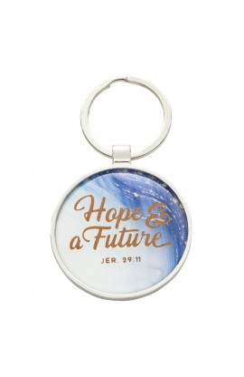 Keyring in Tin Graduation Marble