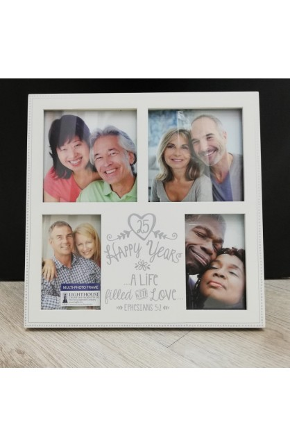 Frame Collage MDF Anniversary Love 25th