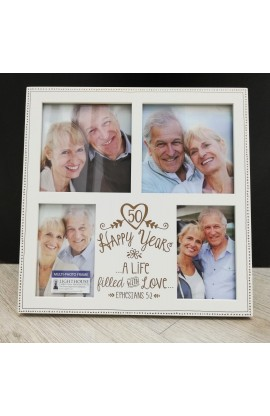 Frame Collage MDF Anniversary Love 50th