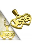 Gold Plated ST Jesus Love Heart Pendant