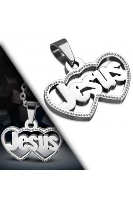 UPK945 ST Jesus Love Heart Pendant