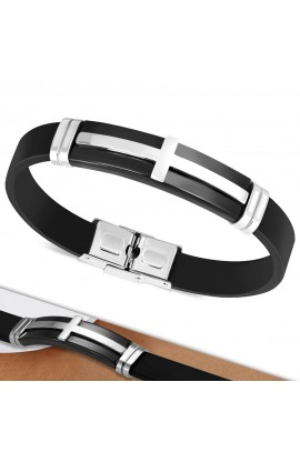 BLT659 Rubber Bracelet with ST Cross Watch Style
