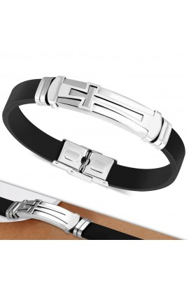 BLT661 Rubber Bracelet with ST Cross Watch Style