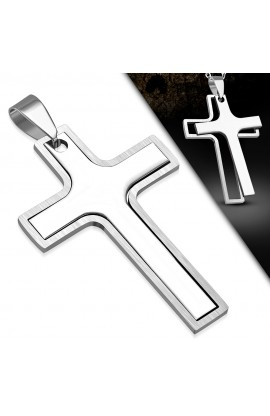 ST Engravable Latin Cross Pendant