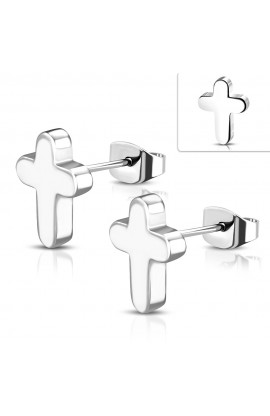 JES052 ST Latin Cross Stud Earrings