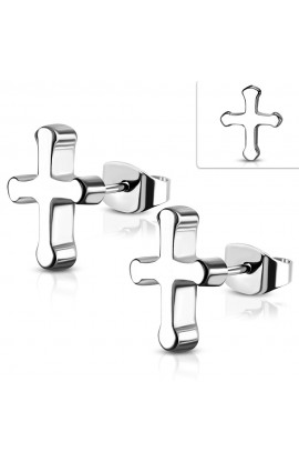 ST Medieval Cross Stud Earrings