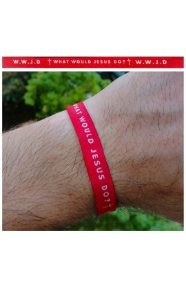 WWJD Red AYAT New Tie Band 30 cm
