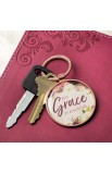 Keyring in Tin His Grace Is Enough 2 Cor 12:9