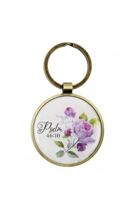 Keyring in Tin Be Still Psa 46:10
