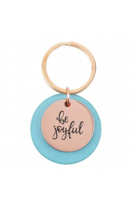 Keyring Teal Be Joyful