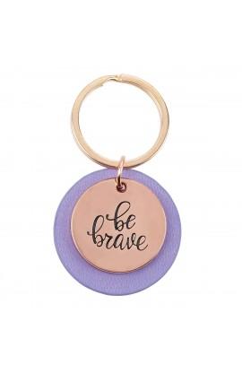 Keyring Purple Be Brave