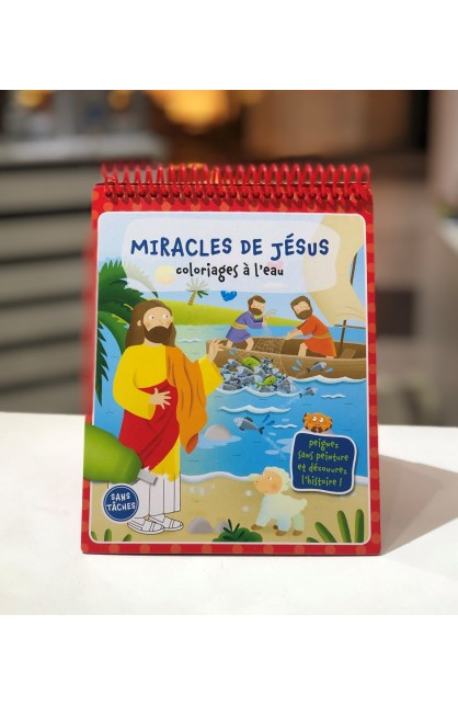 FRENCH MIRACLES OF JESUS WATER DOODLE BOOK
