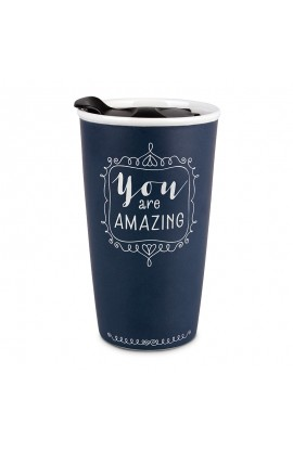 Tumbler Mug Double Wall Ceramic Affirmed You Are Amazing