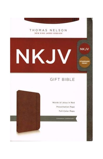 NKJV Gift Bible Cinnamon Leathersoft