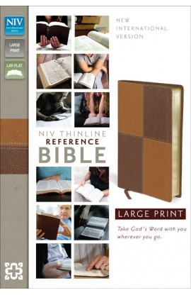 NIV Thinline Reference Bible Large Print Brown