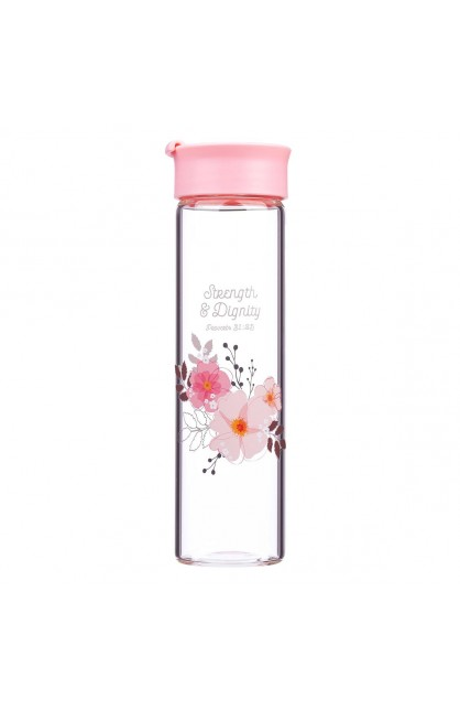 Water Bottle Glass Strength & Dignity