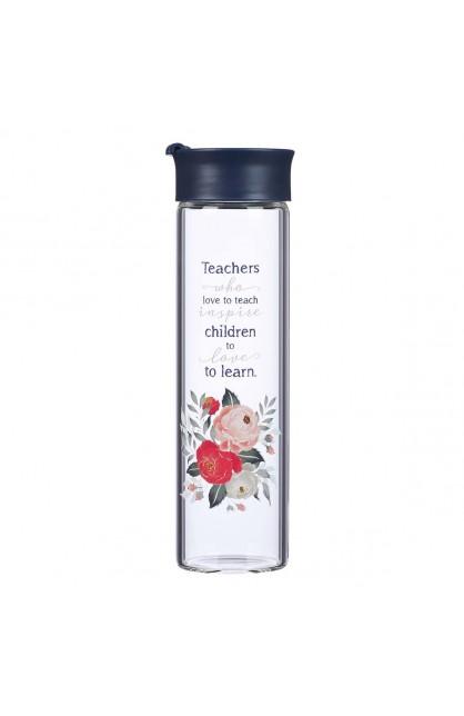 Water Bottle Glass Best Teacher Ever