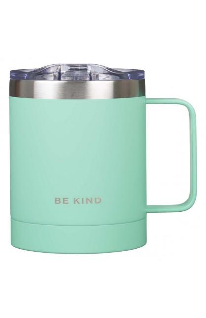 Mug SSteel Camp Teal Be Kind