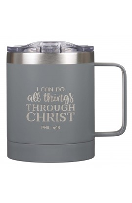 Mug SSteel Camp Gray All Things Phil 4:13