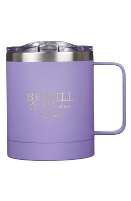Mug SSteel Camp Purple Be Still & Know Psa 46:10