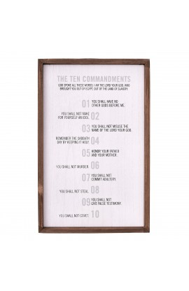 Wall Art 10 Commandments