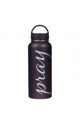 Water Bottle SSTeel Pray Black