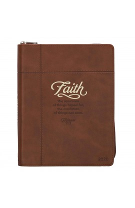 2020 Planner Zip Faith Brown Heb 11:1