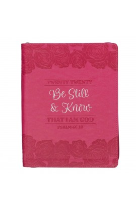 2020 Planner Zip Be Still Roses Ps 46:10
