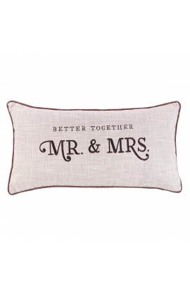 Pillow Oblong Mr. & Mrs.