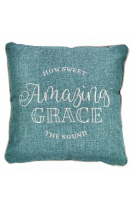 Pillow Square Amazing Grace Teal