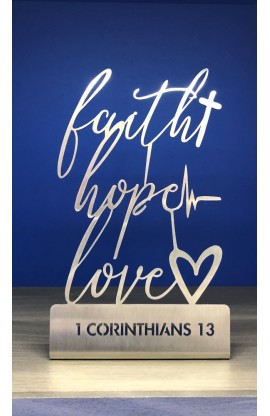 15 CM FAITH HOPE LOVE ST