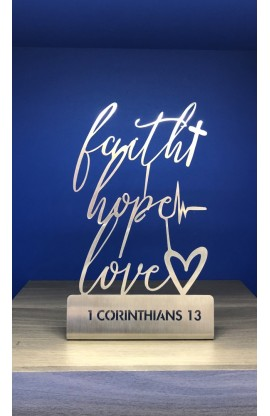 10 CM FAITH HOPE LOVE ST