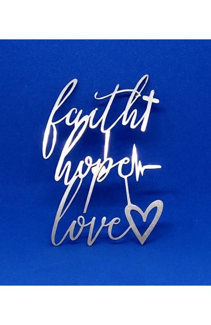FAITH HOPE LOVE MAGNET ST 7.5 CM