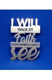 I WILL WALK BY FAITH MAGNET ST 7.5 CM