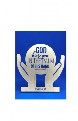 PALM OF HIS HANDS ST 12*12 CM