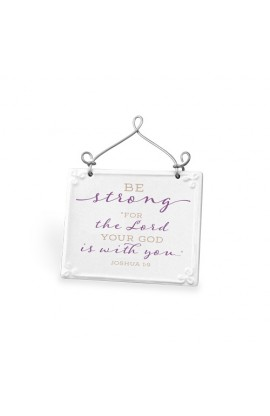 Plaque Ceramic Wire Desktop Scripture Blessings Be Strong