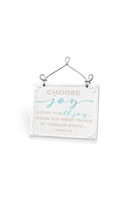 Plaque Ceramic Wire Desktop Scripture Blessings Choose Joy