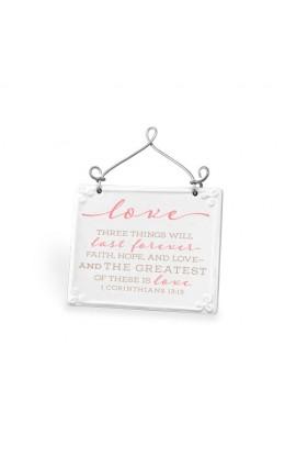 Plaque Ceramic Wire Desktop Scripture Blessings Love