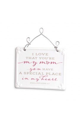 Plaque Ceramic Wire More Scripture Blessings Mom
