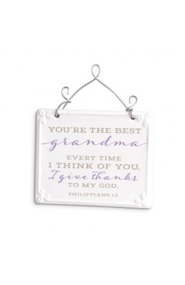 Plaque Ceramic Wire More Scripture Blessings Grandma